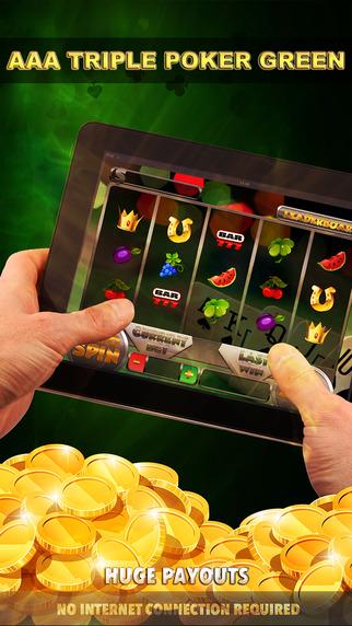 Triple Poker Green Slots - FREE Slot Game