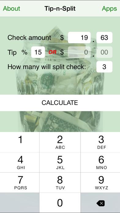 Tip-n-Split iPhone Screenshot 3