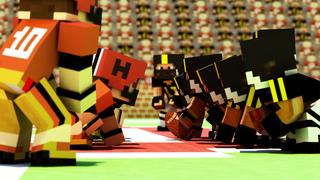 Block American Football 3D - Touchdown Multiplayer Sport Mine Mini Game screenshot 3