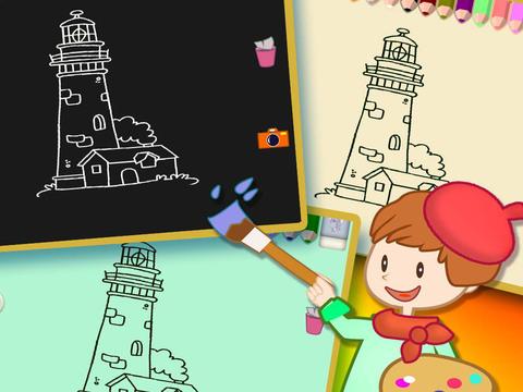 Книжка-раскраска 8 - Картина здание