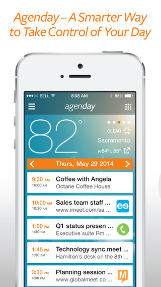 Agenday Smart Calendar – One-touch conference call dialing and scheduling tool
