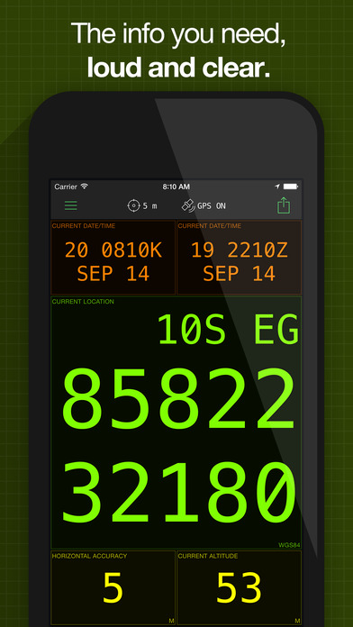 MilGPS iPhone Screenshot 2