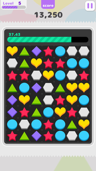 3 Match puzzle - free game with geometry theme