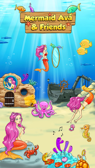 Mermaid Ava Hair Care Make Up Salon and Dress Up - Kids Game