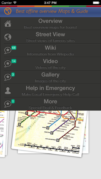 City Tour Guide Paris: offline map with sightseeing gallery video and street view plus emergency hel
