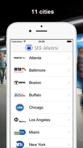 US Metro offline display Atlanta Los Angeles New York San Francisco Washington subway maps