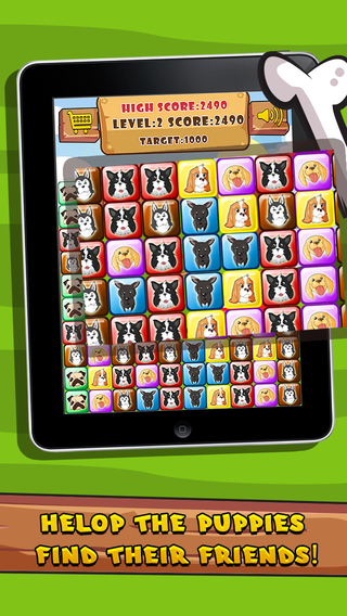 Adorable Dog Puppy Candy Match Mania