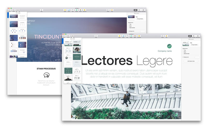 Themes for Keynote Screenshots