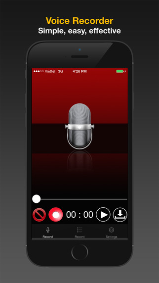 Voice Recorder: easy voice memos fast way to playback and share