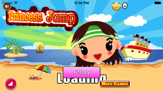 Princess Jump : Fashion Girl Have Fun On The Beach