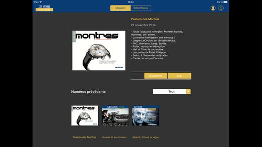 Les Hors-Séries du journal Le Soir et le magazine Passion des Montres