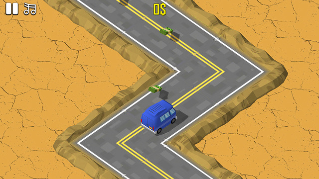 ZigZag Getaway - Stay in line on the road and don't crash