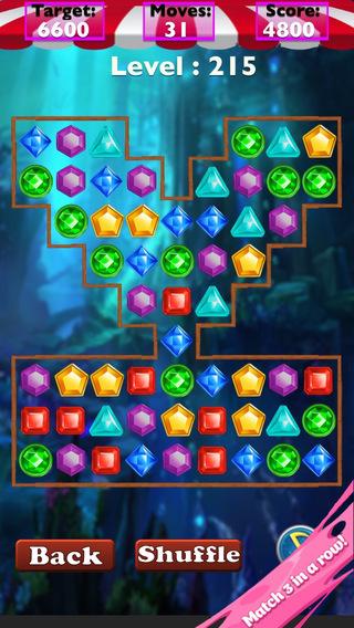 Jewel Blast - Smash the jewels treasure to Crush the frozen diamonds skull