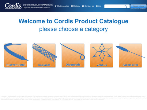 Cordis Catalogue screenshot 1