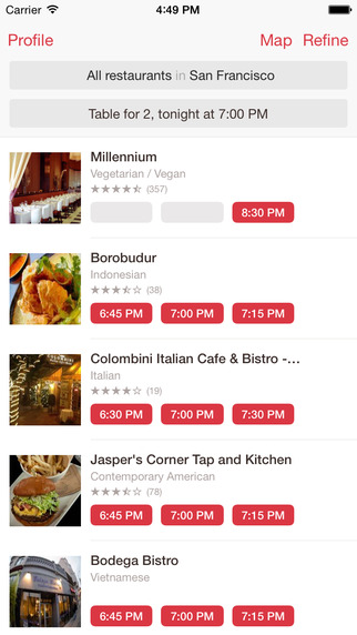 OpenTable - Restaurant Reservations Reviews Menus Local Food Dining