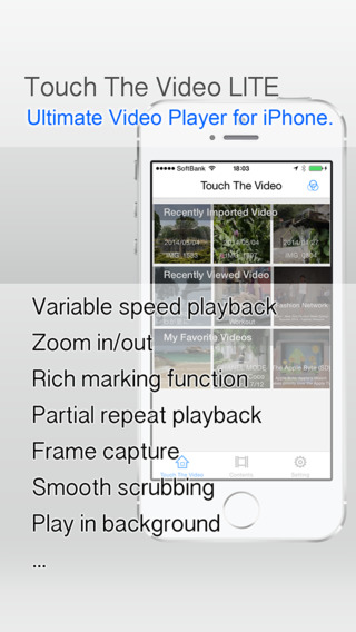Touch The Video Lite -Fully featured easy to use video player