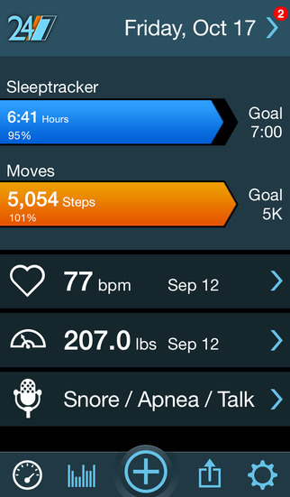 MotionX-24/7: Sleep Cycle, Snore, Heart Rate, Activity Tracker screenshot