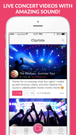 ClipAisle - Live Concert Videos With Amazing Sound
