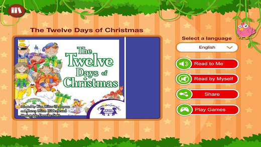 The Twelve Days Of Christmas - Read along interactive Christmas eBook songbook for Kids Parents and