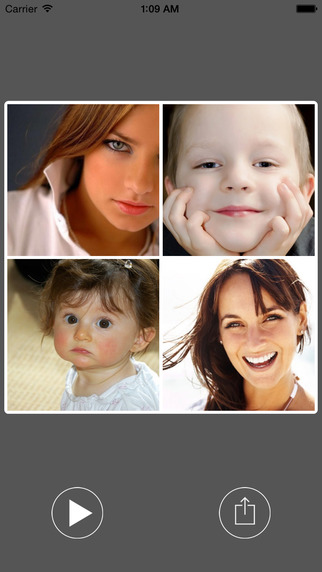 Instant Face Collage Maker - create and share beautiful face expressions photo grids and montages in