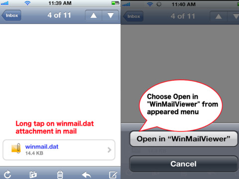 Email showing up as winmail.dat