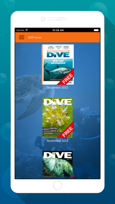 DIVE Magazine iPhone Screenshot 2