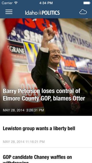 Idaho Politics Newspaper app for iPhone