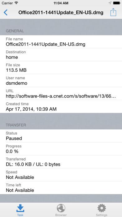 Download Station (DS) Mobile Apps gratis voor iPhone / iPad screenshot