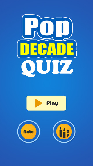 Version 2016 for Guess The Pop Decade Quiz