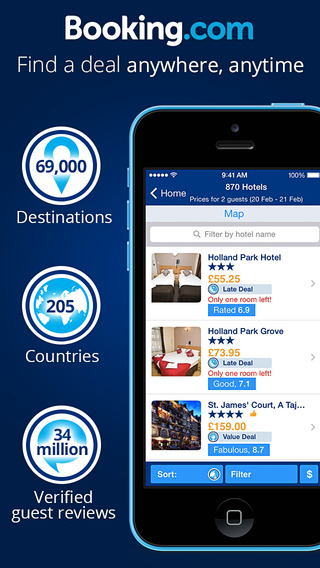 Booking.com Hotel reservations for 530 000+ hotels