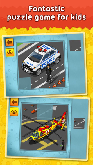 Cars Trucks and other Vehicles - puzzle game for little boys and preschool kids