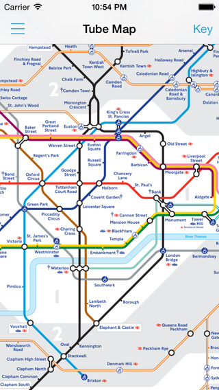 London Tube Rail Maps