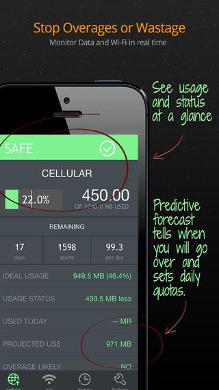 《实用工具 流量管家:Data Usage Pro [iOS]》