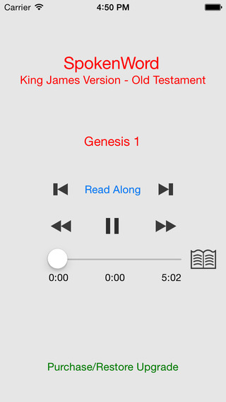 SpokenWord Audio Bible - King James Old Testament