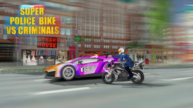 Super Police Bike Race VS Criminals 3D
