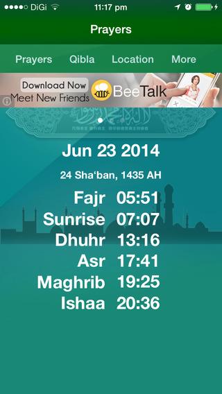 Worldwide Muslim Prayer Times 2015