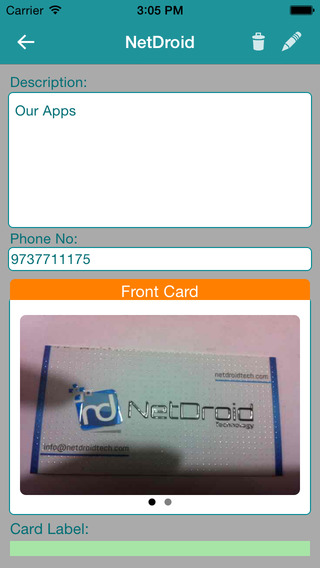 Business Card vault