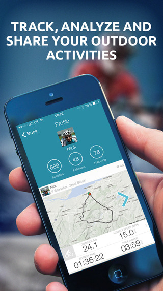 Map My Tracks OutFront - GPS cycling running and fitness activity tracker