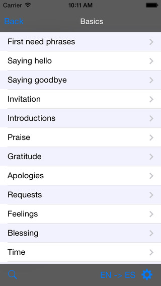 Spanish-Ukrainian Talking Travel Phrasebook iPhone Screenshot 2