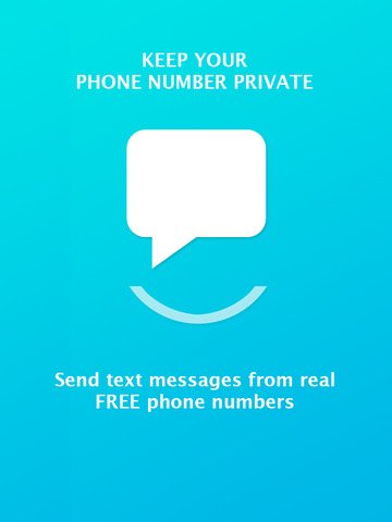 Smiley Private Texting - send private sms messages from a free new number screenshot