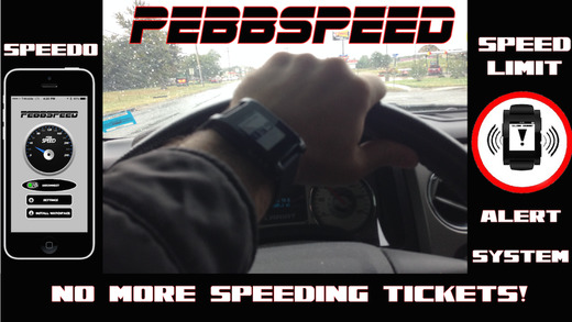 PebbSpeed FREE-Speed Limit Alert System and Wrist Speedometer for Pebble Smartwatch