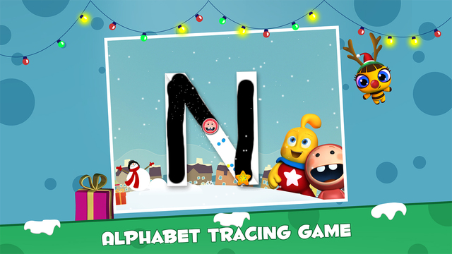 Icky Snow Trace - Learn to trace Uppercase ABC - Lesson 2 of 3