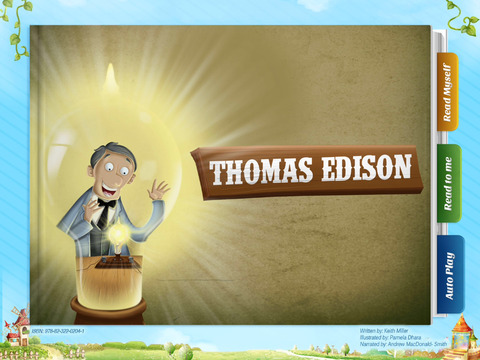 Thomas Edison - Have fun with Pickatale while learning how to read