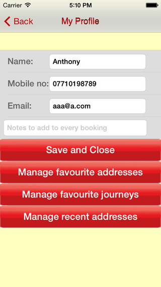Hawk Express Cabs : Booking App