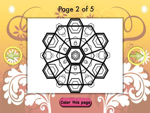 Coloring Pretty Mandala