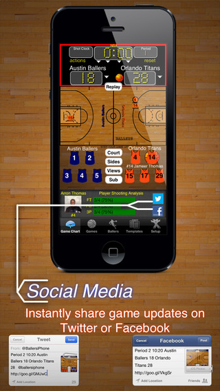 Ballers Basketball Stats, Scorekeeper, and Playmaker Screenshots