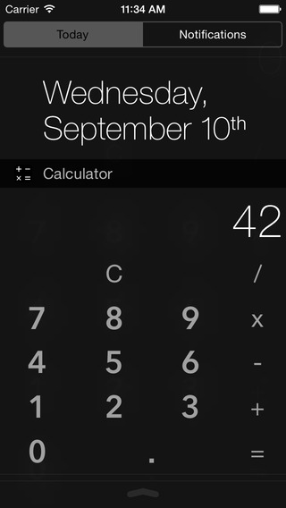Calculator Widget Today Extension