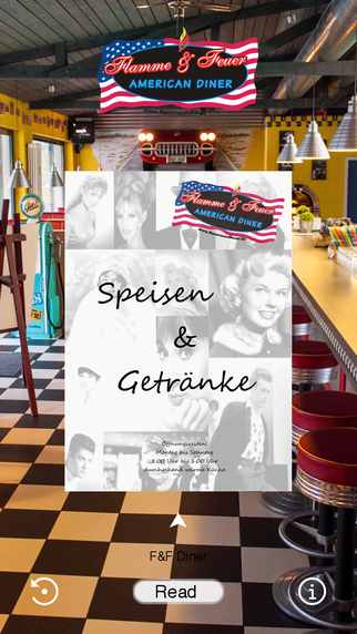 Flamme Feuer American Diner