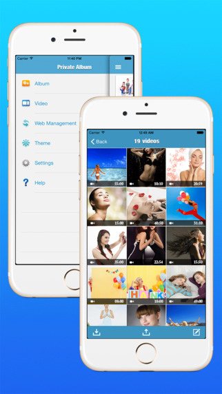 Private Album - Photo & Video Insurance cabinet private album video Manager Screenshots