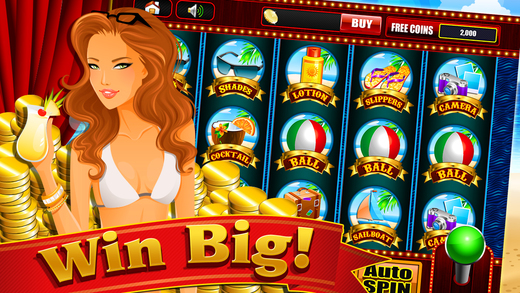Summer on the Paradise Beach Resort and Slots Mach